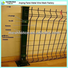 visually appealing pvc coated euro metal decorative fence/fense panels V Pressed Weld Mesh Fencing