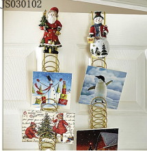 2016 New Christmas decoration, metal Snowman or Santa claus wall hanging, for hanging the door