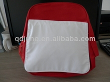 Custom Red and blue printing area blank sublimation Backpack for child