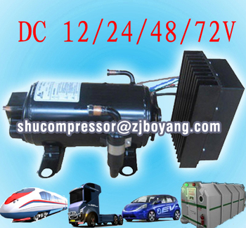 12 24 Volt Dc Compressor For Air Conditioner Of Electric
