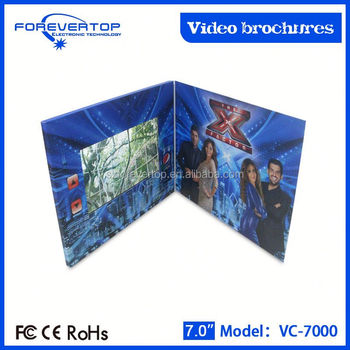 Artifical type new invitation card video greeting cards with wifi