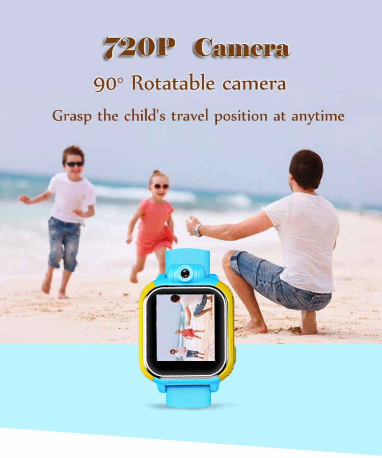 2016 fashion color touch screen kids 3g gps tracker watch with pedometer and camera