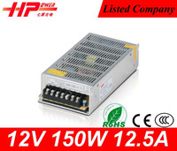 High reliability led driver ic CE RoHS constant voltage 12v led driver single output 150W 12.5A 12V led power driver