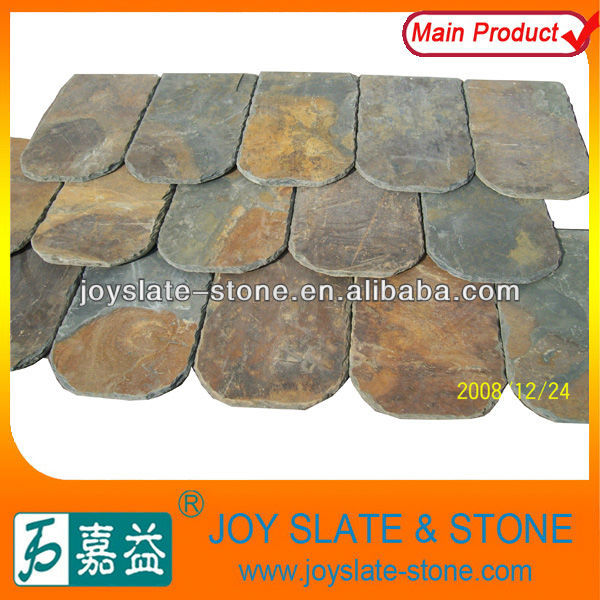 Natural rusty wavy roof tile