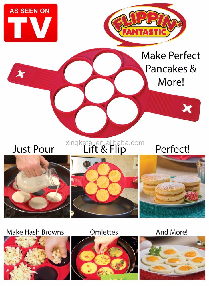 As Seen on TV products Flippin Fantastic Flip multiple silicone perfect pancakes maker
