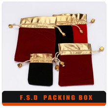 Free Design Wholesale Embroidered Velvet Jewelry Pouches