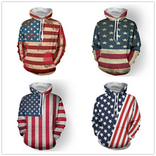 Latest American flag custom hoodie Sublimation USA flag hoodie