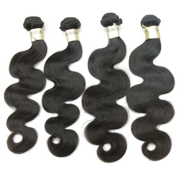 Vente chaude cheveux corps vague avec tangle libre hangar livraison cheveux extension