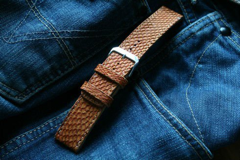 Salmon fish luxury watch band