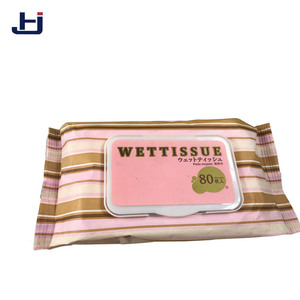 pure cotton natural band cover lovely girl japanese wet tissue/wet wipes