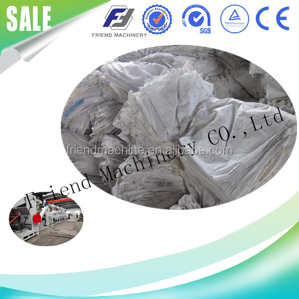 Plastic PE film/bags PP woven bags recycling machine crushing and washing plant