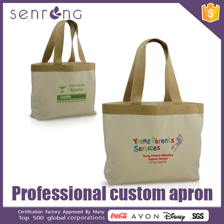 Stripped Canvas Bag Blank Cotton Tote Bags With Printing