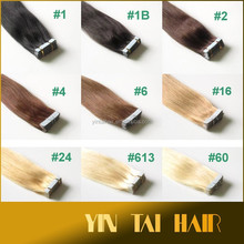 Top quality double sided tape hair extensions straight tape hair 100% synthetic 20 inch