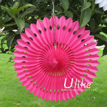 Popular Tissue Paper Fans Indian party decoration fan lantern club party decoration home decoration