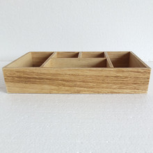 Made in china business office mirror wooden sorter tray