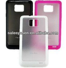 tpu+pc 2 in 1 case for samsung i9100 galaxy s2 cover case