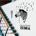 2016 New Zebra Wall Stickers Wall Decals, Modern Zebra PVC Wall Stickers Coffee Home Decoration