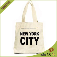 Customized 4-16 OZ Letter printing fashion shopping canvas bag promotional bag