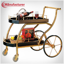 Deluxe Five Star Hotel Liquor Trolley/Bar Wine Service Cart