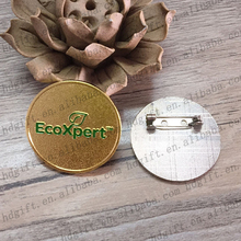 Ecoxpert Company Metal Name Tag Party Prize Pin Badge