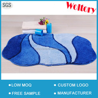 Latex backing LOW MOQ Jacquard 2PC Set Bathroom bathmat set