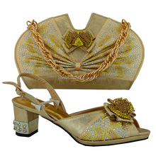 Gold Shoe and bag set / matching shoe and bag set / shoe and bag set nigeria style