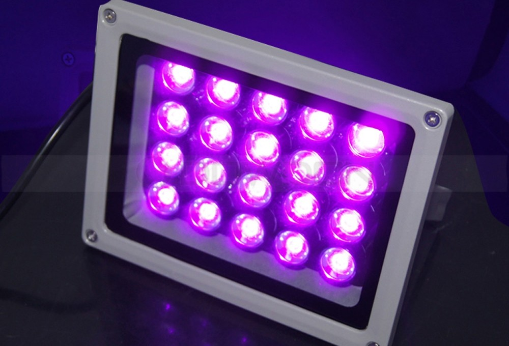 110V 20W UV Ultra Violet Curing Blacklight Fishing Aquarium High Power LED Lights