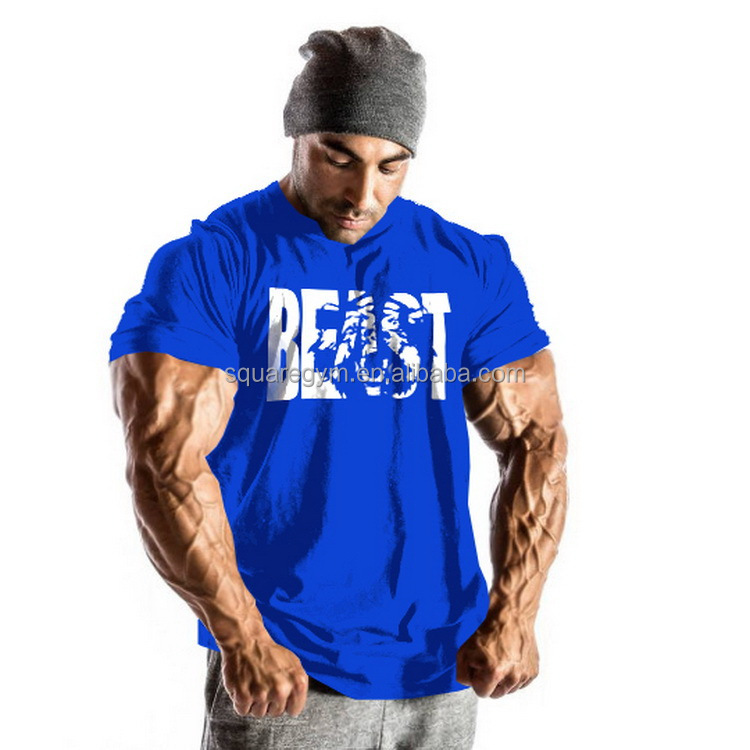 Competitive fitness printing men tee <strong>shirt</strong> good looking