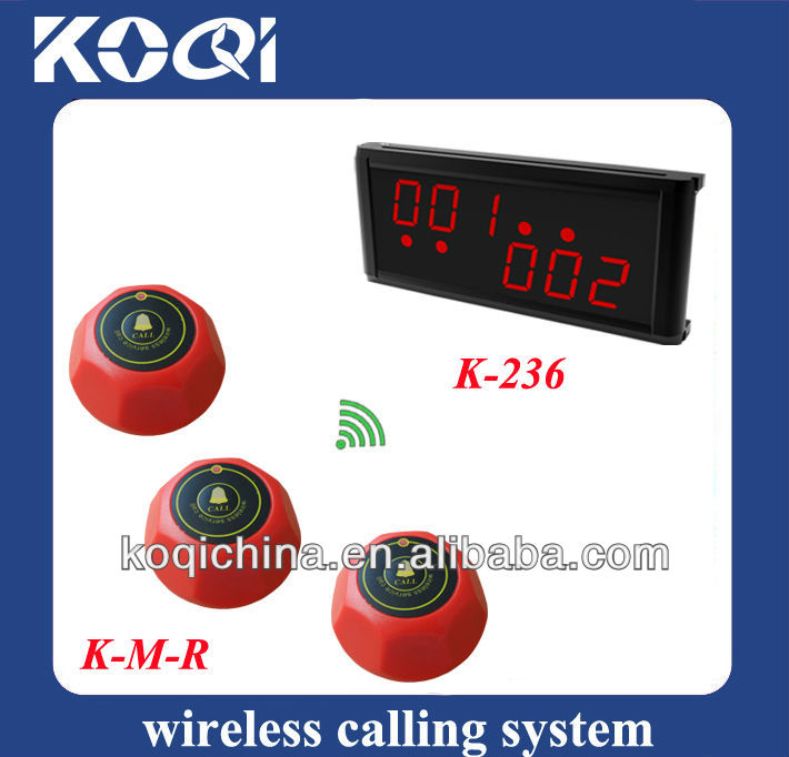K-236 Multi functional Wireless waiter call button Transmission System
