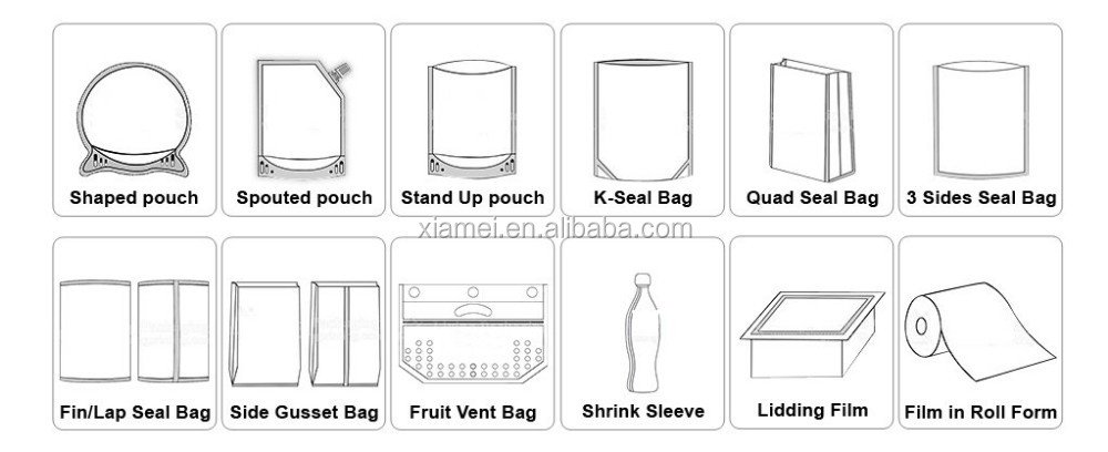 small size meat package bag high temperature resistance retort pouch