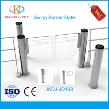High quality Gear hydraulic motor Stainless steel optical pedestrian access control system Swing Barrier Speed Gate