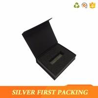 Luxury custom magnetic box usb flash drive gift box from china