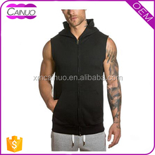 Mens workout stringer muscle gym sleeveless bodybuilding hoodies