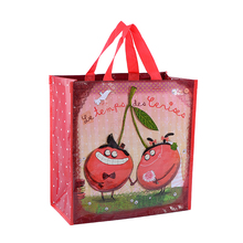 Red strawberry 2017 lamination film ladies shopping tote bag