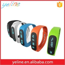 Promotional novelty 2016 E02 smart silicone watch