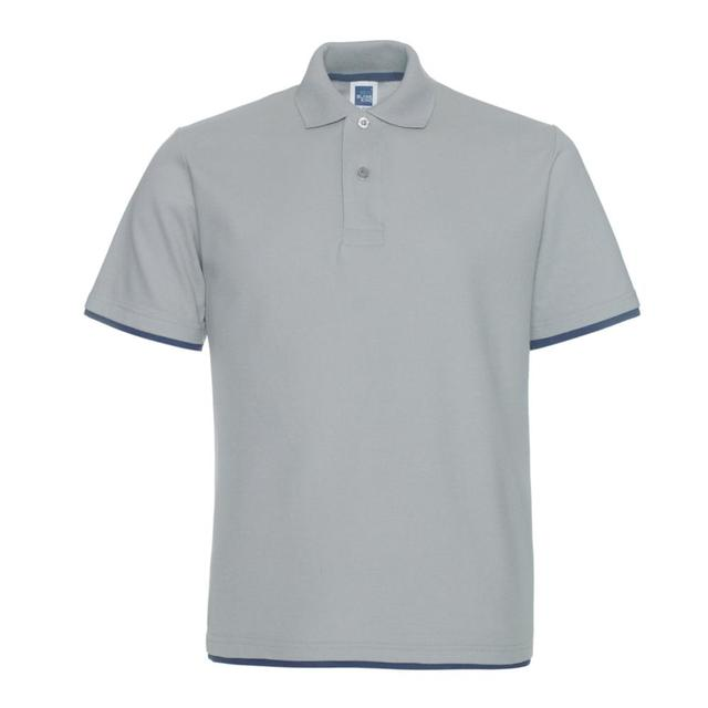 two color Men's Polo t shirt Combination blank High Quality 1AC05 bulk buy design your own polo shirt