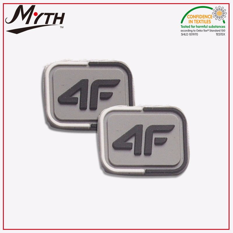 Custom Embossed Logo round Military 3D Soft PVC Patch /Silicone Rubber Patch with embroidery textile patches