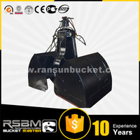High Quality NM400 Material RSBM-cb 1-50t excavator clamshell bucket for sale