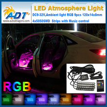 Car Decoration Lamp rgb auto Interior led atmosphere light for car with music sound control