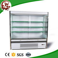 Single-temperature supermarket display chiller for vegetables with air curtain door