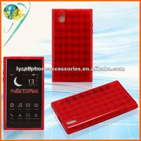 For LG P940 New Model Accept Paypal Transparent Red Cell Phone Tpu Case