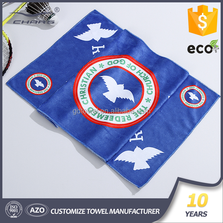 Microfiber fabric softtextile sport towel custom printing factory directly sale