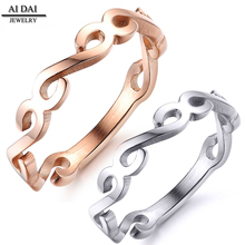 New Design Hand Cut Personalized Rose Gold Plated Ring Fashion Jewelry 2018