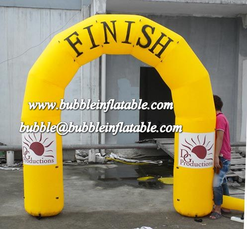 10' (3 m) Long tini inflatable finish line arch for sale/good quality inflatable archway