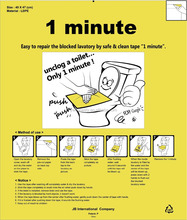 Unclog a toilet only 1 minute