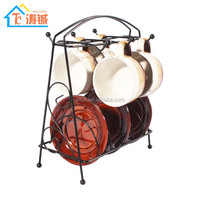 Household New Products Multifunctional Metal 6 cup 6 plates Coffee Cup Holder/Drying Holder