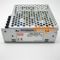 Meanwell Switching Power Supply SD-25C-5 25W Single Output DC-DC Converter Input 36 ~72VDC Output 5V 5A wholesale Converters