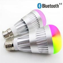 Phone Control Colorful Music LED Light Bulb Bluetooth Speaker 2 IN 1 Portable Music Smart RGB Bubble Lamp 5W for iPhone Samsung