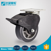 Industrial removable caster with top plate heavy duty wheel