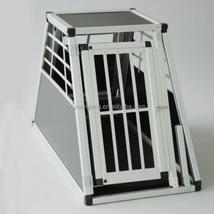 all sizes deluxe aluminum dog cage for car